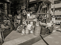 Garage Full of Wire in Ota, Japan 2014.