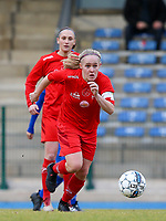 20191221 - WOLUWE: Woluwe's Jana Simons in action during the Belgian Women's National Division 1 match between FC Femina WS Woluwe A and KAA Gent B on 21st December 2019 at State Fallon, Woluwe, Belgium. PHOTO: SPORTPIX.BE | SEVIL OKTEM