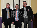 Michael Reid, Paddy McMahon and Terry Donegan pictured at the Mattock Rangers Awards night in The Grove House Dunleer. Photo:Colin Bell/pressphotos.ie