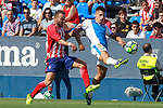 CD Leganes' Unai Bustinza (r) and Atletico de Madrid's Keidi Bare during friendly match. August 12,2017. (ALTERPHOTOS/Acero)