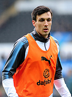 Burnley's Jack Cork during the pre-match warm-up <br /> <br /> Photographer Ashley Crowden/CameraSport<br /> <br /> The Premier League - Swansea City v Burnley - Saturday 10th February 2018 - Liberty Stadium - Swansea<br /> <br /> World Copyright &copy; 2018 CameraSport. All rights reserved. 43 Linden Ave. Countesthorpe. Leicester. England. LE8 5PG - Tel: +44 (0) 116 277 4147 - admin@camerasport.com - www.camerasport.com