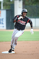Franchy Cordero (26) of the Lake Elsinore Storm runs the bases during a game against the Rancho Cucamonga Quakes at LoanMart Field on April 10, 2016 in Rancho Cucamonga, California. Lake Elsinore defeated Rancho Cucamonga, 7-6. (Larry Goren/Four Seam Images)