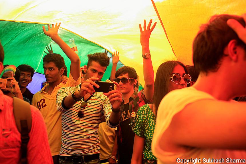 LGBT Queer Pride March in Mumbai ,India 2014.