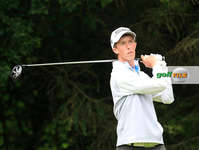 Marc Norton (Belvoir Park) on the 2nd tee during Round 3 of the Irish Boys Amateur Open Championship at Tuam Golf Club on Thursday 25th June 2015.<br /> Picture:  Thos Caffrey / www.golffile.ie