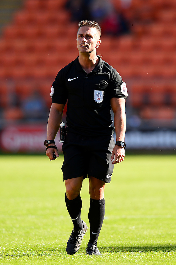 Referee James Adcock looks on<br /> <br /> Photographer Richard Martin-Roberts/CameraSport<br /> <br /> The EFL Sky Bet League Two - Blackpool v Carlisle United - Saturday 17 September 2016 - Bloomfield Road - Blackpool<br /> <br /> World Copyright &copy; 2016 CameraSport. All rights reserved. 43 Linden Ave. Countesthorpe. Leicester. England. LE8 5PG - Tel: +44 (0) 116 277 4147 - admin@camerasport.com - www.camerasport.com