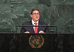 72 General Debate – 22 September <br /> <br /> Cuban foreign minister, Rodríguez Parrilla