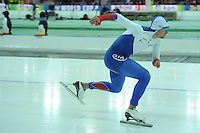 SPEED SKATING: STAVANGER: Sørmarka Arena, 29-01-2016, ISU World Cup, 1500m Men Division A, Denis Yuskov (RUS), ©photo Martin de Jong