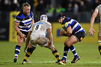 Lucas Noguera Paz of Bath Rugby in possession. Aviva Premiership match, between Bath Rugby and Wasps on December 29, 2017 at the Recreation Ground in Bath, England. Photo by: Patrick Khachfe / Onside Images