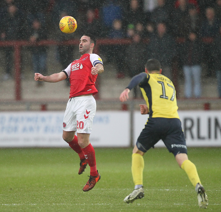 Fleetwood Town's Craig Morgan<br /> <br /> Photographer Mick Walker/CameraSport<br /> <br /> The EFL Sky Bet League One - Fleetwood Town v Scunthorpe United - Saturday 26th January 2019 - Highbury Stadium - Fleetwood<br /> <br /> World Copyright © 2019 CameraSport. All rights reserved. 43 Linden Ave. Countesthorpe. Leicester. England. LE8 5PG - Tel: +44 (0) 116 277 4147 - admin@camerasport.com - www.camerasport.com
