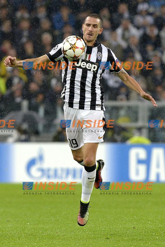 Leonardo Bonucci Juventus,<br /> Torino 04-11-2014, Juventus Stadium, Football Calcio 2014/2015 Champions League, Juventus - Olympiacos, foto Filippo Alfero/Insidefoto