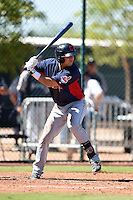 Cleveland Indians outfielder David Armendariz (29) during an Instructional League game against the Seattle Mariners on October 1, 2014 at Goodyear Training Complex in Goodyear, Arizona.  (Mike Janes/Four Seam Images)