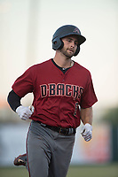 AZL Diamondbacks third baseman Joe Gillette (6) rounds the bases after hitting a two-run home run during an Arizona League game against the AZL Angels at Tempe Diablo Stadium on June 27, 2018 in Tempe, Arizona. The AZL Angels defeated the AZL Diamondbacks 5-3. (Zachary Lucy/Four Seam Images)