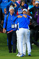 Carlota Ciganda (EUR) wins on the 18th green during Day 3 Singles at the Solheim Cup 2019, Gleneagles Golf CLub, Auchterarder, Perthshire, Scotland. 15/09/2019.<br /> Picture Thos Caffrey / Golffile.ie<br /> <br /> All photo usage must carry mandatory copyright credit (© Golffile | Thos Caffrey)