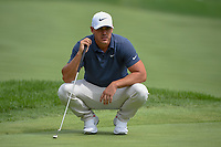 Brooks Koepka (USA) looks over his putt on 1 during 1st round of the World Golf Championships - Bridgestone Invitational, at the Firestone Country Club, Akron, Ohio. 8/2/2018.<br /> Picture: Golffile | Ken Murray<br /> <br /> <br /> All photo usage must carry mandatory copyright credit (&copy; Golffile | Ken Murray)