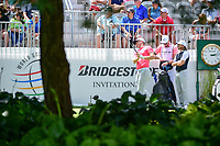 Alex Noren (SWE) watches his tee shot on 10 during Saturday's round 3 of the World Golf Championships - Bridgestone Invitational, at the Firestone Country Club, Akron, Ohio. 8/5/2017.<br /> Picture: Golffile | Ken Murray<br /> <br /> <br /> All photo usage must carry mandatory copyright credit (&copy; Golffile | Ken Murray)