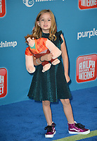 LOS ANGELES, CA. November 05, 2018: Chloe Clem at the world premiere of &quot;Ralph Breaks The Internet&quot; at the El Capitan Theatre.<br /> Picture: Paul Smith/Featureflash