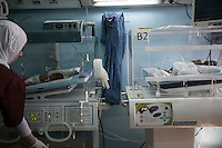June 11, 2015 - Bekaa Valley, Lebanon: A new born Syrian baby (left bottom) lays inside an incubator at Rahme hospital in Taanayel city in east of Lebanon. The baby as many like him with Syrian roots was born stateless after their parents fled years ago from their hometowns in Syria when opposition armed groups started battling against the government of President Bashar Al-Assad. (Photo/Narciso Contreras)