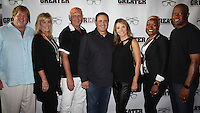 "NWA Democrat-Gazette/CARIN SCHOPPMEYER Carl and Tammy Shipley (from left), Nick Searcy, Brian and Missy Reindl and Marcheita and Mike Anderson attend the screening of ""Greater"" on Aug. 22."