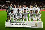 Team photo of Real Madrid during La Liga match between Real Madrid and Athletic Club de Bilbao at Santiago Bernabeu Stadium in Madrid, Spain. December 22, 2019. (ALTERPHOTOS/A. Perez Meca)