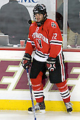 Dennis McCauley (Northeastern - 12) - The Boston College Eagles defeated the visiting Northeastern University Huskies 7-1 on Friday, March 9, 2007, to win their Hockey East quarterfinals matchup in two games at Conte Forum in Chestnut Hill, Massachusetts.
