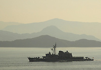 Japanese destroyer outside Sasebo, Japan.