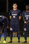 05 September 2014: Connecticut's Jakob Nerwinski. The Wake Forest University Demon Deacons hosted the University of Connecticut Huskies at W. Dennie Spry Soccer Stadium in Winston-Salem, North Carolina in a 2014 NCAA Division I Men's Soccer match. Wake Forest won the game 2-1 in sudden death overtime.