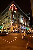 Montreal (Qc) Canada - July 12 2009 - Downtown Montreal at night :<br /> Scotia Bank Cinema