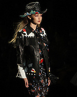 NEW YORK, NY-September 14: Gigi Hadid walk the runway  for  Anna Sui Fashion Show-2016 New York Fashion Week at the Arts Skylight of Moynihan Station in New York. September 14, 2016. Credit:RW/MediaPunch