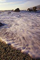 California, Big Sur, Kirk Creek Campground beach, Lucia
