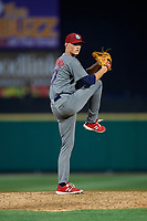 Lehigh Valley IronPigs relief pitcher Brandon Leibrandt (37) delivers a pitch during a game against the Rochester Red Wings on June 30, 2018 at Frontier Field in Rochester, New York.  Lehigh Valley defeated Rochester 6-2.  (Mike Janes/Four Seam Images)