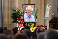 LATROBE, PA - OCTOBER 4: A portrait of Arnold Palmer is displayed during a Celebration of Arnold Palmer at Saint Vincent College on October 4, 2016 in Latrobe, Pa. (Photo by Hunter Martin/Getty Images) *** Local Caption ***