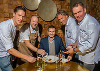 Rotterdam, The Netherlands, 16 Januari 2019, ABNAMRO World Tennis Tournament, Chef's table, Tournament director Richard Krajicek (M) gets served by : ltr  Jos Grootscholten restaurant het Perseel * , Mario Ridder Restaurant Joelia *, Fred Mustert restaurant Fred **, and Eric van Loo restaurant Parkheuvel ** <br /> Photo: www.tennisimages.com/Henk Koster