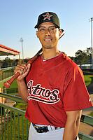 Feb 25, 2010; Kissimmee, FL, USA; The Houston Astros infielder Edwin Maysonet (18) during photoday at Osceola County Stadium. Mandatory Credit: Tomasso De Rosa / Four Seam Images