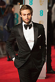 London, UK. 14 February 2016. Douglas Booth. Red carpet arrivals for the 69th EE British Academy Film Awards, BAFTAs, at the Royal Opera House. © Vibrant Pictures/Alamy Live News