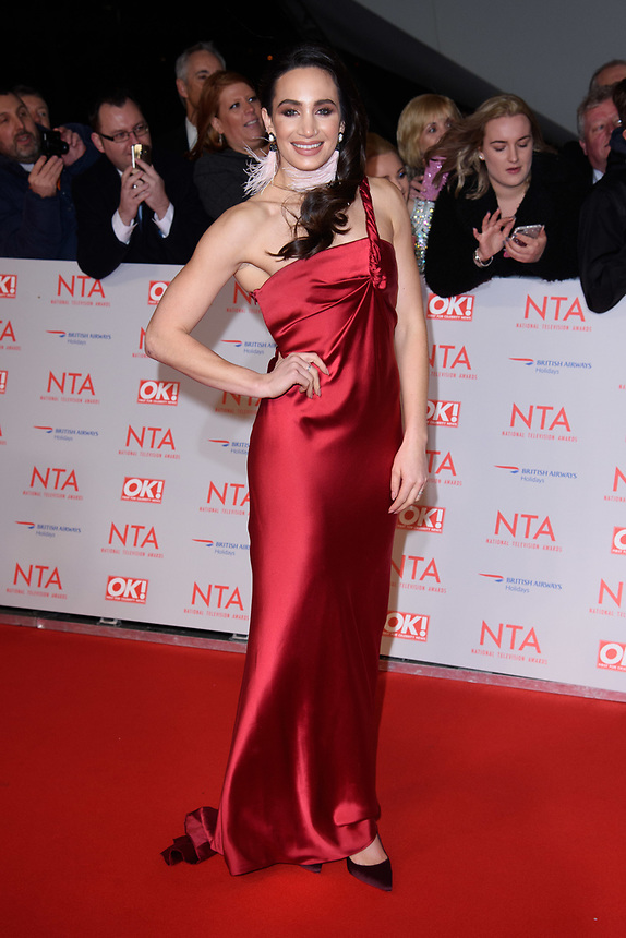 Laura Wright<br /> arriving for the National Television Awards 2018 at the O2 Arena, Greenwich, London<br /> <br /> <br /> ©Ash Knotek  D3371  23/01/2018