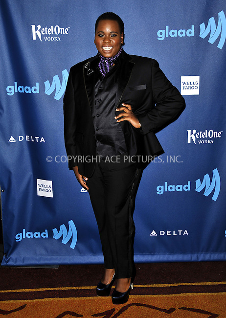 WWW.ACEPIXS.COM......April 20, 2013, Los Angeles, CA.....Alex Newell arriving at the 24th Annual GLAAD Media Awards held at the JW Marriott Los Angeles at L.A. LIVE on April 20, 2013 in Los Angeles, California. ..........By Line: Peter West/ACE Pictures....ACE Pictures, Inc..Tel: 646 769 0430..Email: info@acepixs.com
