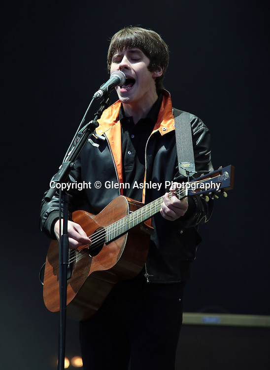 Jake Bugg performing at the 2014 Leeds Festival, United Kingdom on 24 August 2014. Photo by Glenn Ashley.