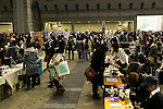 Visitors gather at the ''Comic Market (Comiket) 89'' in Tokyo Big Sight on December 29, 2015, Tokyo, Japan. Thousands of comic, game and cosplay fans attended the first day of the world's biggest amateur comic fair. Established in 1975, the bi-annual event provides an opportunity for fans and artists to interact. The exhibition is held from December 29 to 31 and expected to attract over 500,000 visitors. (Photo by Rodrigo Reyes Marin/AFLO)