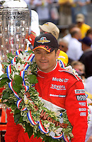 87th Indianapolis 500, Indianapolis Motor Speedway, Speedway, Indiana, USA  25 May,2003.Winner Gil de Ferran..World Copyright©F.Peirce Williams 2003 .ref: Digital Image Only..F. Peirce Williams .photography.P.O.Box 455 Eaton, OH 45320.p: 317.358.7326  e: fpwp@mac.com..