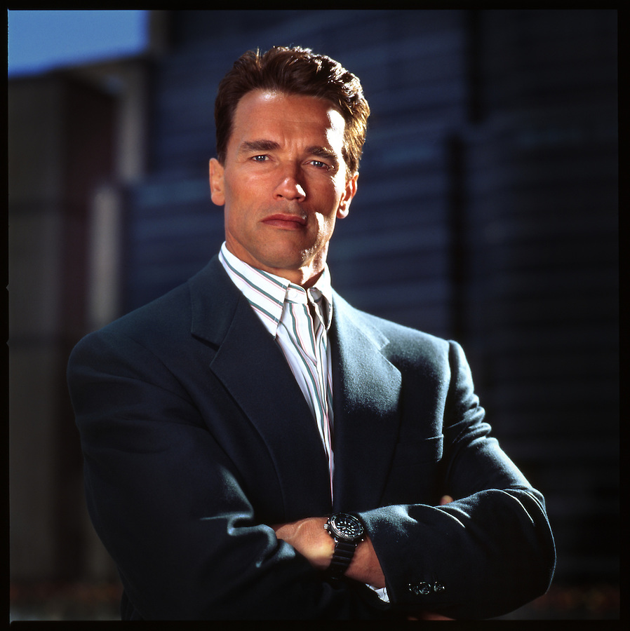 Prior to being the Governor of California, Arnold Schwarzenegger was a benefactor during the construction of the Museum of Tolerance in Los Angeles at the Simon Wiensenthal Center. Copyright Jim Mendenhall, 1992 for the Museum of Tolerance.