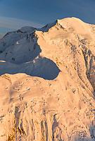 Aerial View Of Pioneer Ridge Leading To The Summit Of Mt. Denali, North America's Tallest Peak. Denali National Park, Interior, Alaska.