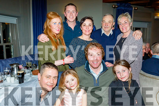 John Kennedy from Camp, seated, celebrated his 40th birthday last Saturday night in the Meadowlands hotel, Tralee, front L-R Mike&Fiabh Dolan, John Kennedy and Éabha dolan, back L-R LeeAnn Dolan, John Herlihy with kerri,Johnny&Ann Kennedy.