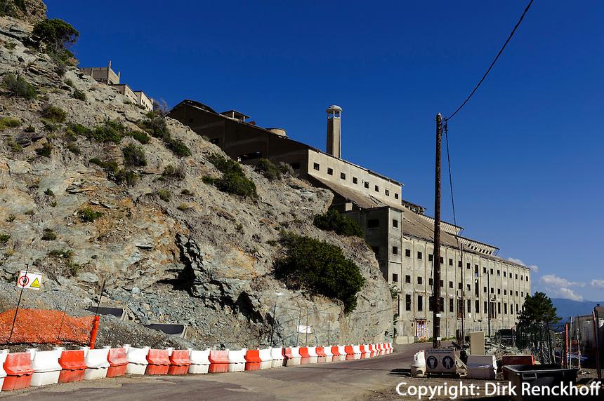 Asbest-Abbau bei Nonza auf Cap Corse, Korsika, Frankreich