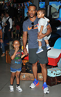 Ashley Walters with his kids at the &quot;Thomas &amp; Friends: Big World! Big Adventures!&quot; UK film premiere, Vue West End, Leicester Square, London, England, UK, on Saturday 07 July 2018.<br /> CAP/CAN<br /> &copy;CAN/Capital Pictures
