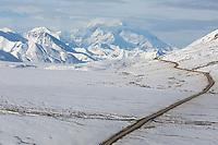 View of the Denali Park Road from Stony Dome, Denali National Park, Alaska
