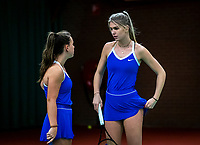 Wateringen, The Netherlands, December 15,  2019, De Rhijenhof , NOJK juniors doubles 12/14/16  years, Coco Bosman (NED) and Laurèl Polman (NED) (L)<br /> Photo: www.tennisimages.com/Henk Koster