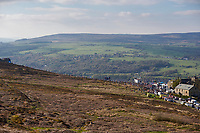 Picture by SWpix.com - 04/05/2018 - Cycling - 2018 Tour de Yorkshire - Stage 2: Barnsley to Ilkley - Yorkshire, England - The summit of the Cote de Cow and Calf at the finale of Stage 2.