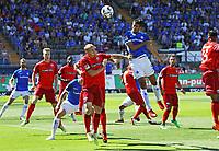 Kopfball Slobodan Medojevic (SV Darmstadt 98) - 05.08.2018: SV Darmstadt 98 vs. SC Paderborn 07, Stadion am Boellenfalltor, 1. Spieltag 2. Bundesliga<br /> <br /> DISCLAIMER: <br /> DFL regulations prohibit any use of photographs as image sequences and/or quasi-video.