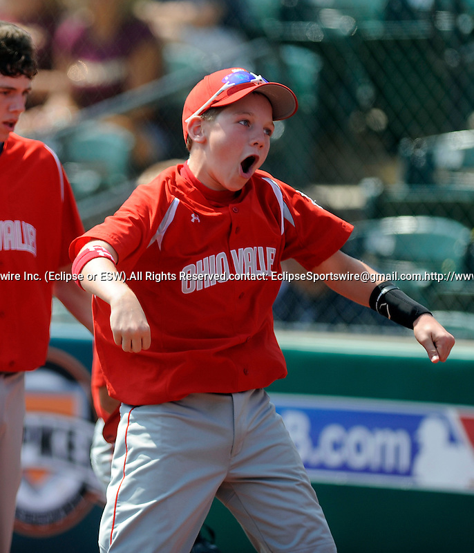 A Southeast lexington play celebrates during the United States Championship game at the Cal Ripken World Series in Aberdeen, Southeast Lexington (KY) defeated Oahu East (HI) to win the US championship and earn a chance to play for the world championship, Maryland on August 20, 2011