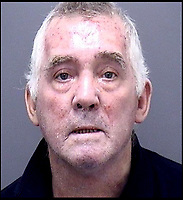 BNPS.co.uk (01202 558833)<br /> Pic: DorsetPolice/BNPS<br /> <br /> Police custody image of Ian Clowes.<br /> <br /> A vengeful husband who almost killed himself and his ex-wife when he blew up their house out of spite is due to be sentenced today.<br /> <br /> Ian Clowes, 67, has previously pleaded guilty to a charge of arson in connection with the huge gas explosion that ripped apart the semi-detached property in Poole, Dorset, last October.